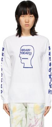 Brain Dead White Vehicle Long Sleeve T-Shirt