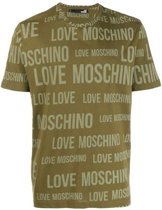 Love Moschino logo print crew neck T-shirt