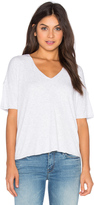 Heather Drop Shoulder V Neck Tee