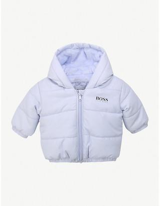HUGO BOSS Logo-printed shell-down jacket 3-18 months