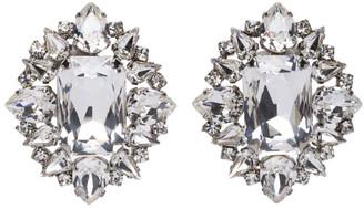 Wandering Silver Crystal Clip-On Earrings