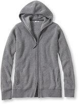 L.L. Bean Women's Cotton/Cashmere Sweater, Waffle Hoodie Bird's-Eye