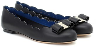 Salvatore Ferragamo Varina Shell leather ballet flats