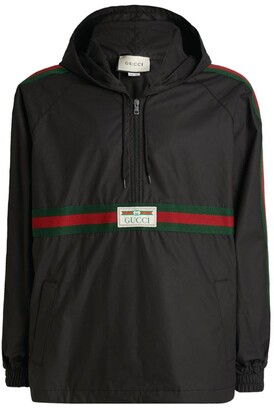 Gucci Web Stripe Hooded Windbreaker