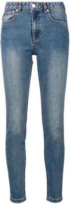 A.P.C. washed skinny jeans