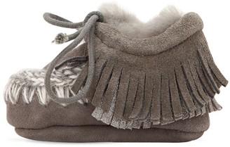 Mou Mini Eskimo Suede Shearling Boots