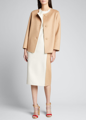 Akris Bicolor Reversible Wool-Blend Jacket