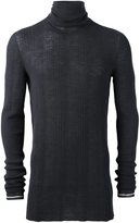 Lanvin Irregular Ribs Turtle Neck Sweater - men - Wool - XL