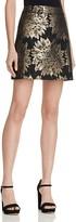 Karen Millen Metallic Jacquard A-Line Skirt
