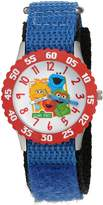 EWatchFactory Boy's 'Sesame Street' Quartz Stainless Steel and Nylon Automatic Watch, Color: (Model: W003181)