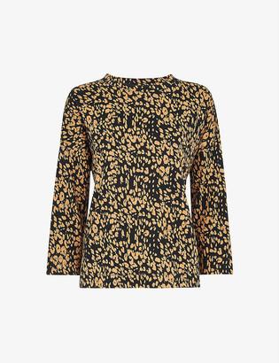 Whistles Safari leopard-print cotton top