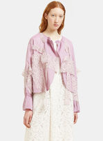 Renli Su Women's Draped Lace Patch Jacket in Purple