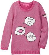 Betsey Johnson Pop Til You Drop Lurex Intarsia Sweater (Big Girls)