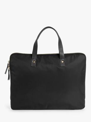 John Lewis & Partners Florence 15 Nylon Laptop Bag, Black