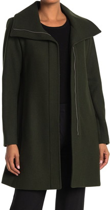 Nine West Zip Front Wool Coat