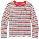 Arizona Little Kid / Big Kid Girls Round Neck Long Sleeve Graphic T-Shirt