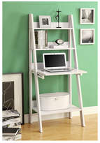 """Monarch Specialties Inc. 61"""" Leaning Bookcase"""