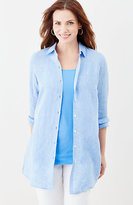 J. Jill Yarn-Dyed Linen Button-Front Tunic