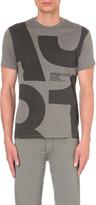 Armani Jeans 1981 logo-print cotton-jersey t-shirt