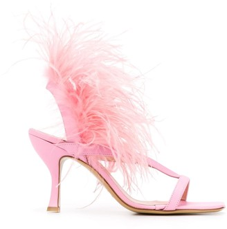Gia Couture Feather Sandal