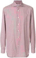 Kiton checked long sleeve shirt