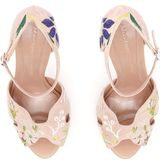 Alexander McQueen Floral Embroidery Sandals