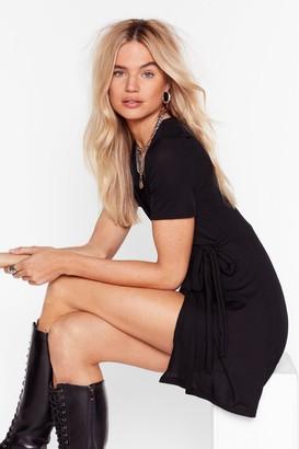 Nasty Gal Womens I Love Wrap and Roll Mini Dress - Black - 8