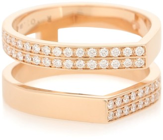 Repossi Antifer 18kt rose-gold and diamond ring