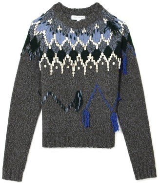 Dice Kayek Crystal Embellished Sweater in Anthracite