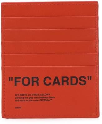 Off-White slogan print cardholder