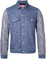 Junya Watanabe Comme Des Garçons Man - abstract print sleeves jacket - men - Wool/Cotton - M