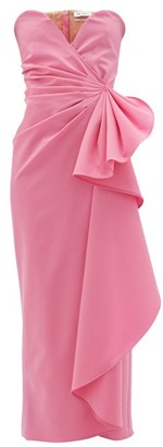 ATTICO Bustier Draped Wool-blend Dress - Pink