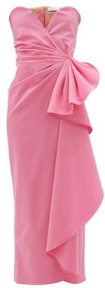 ATTICO The Bustier Draped Wool-blend Dress - Womens - Pink