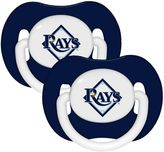 Baby Fanatic MLB Tampa Bay Rays 2-Pack Pacifiers