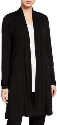 Eileen Fisher Petite Open-Front Jersey Straight Cardigan