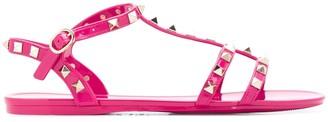 Valentino Rockstud rubber flip-flops