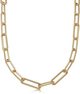 Missoma Gold Chunky Half Radial Chain Necklace