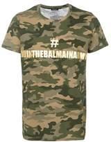 Balmain Men's Green Cotton T-shirt.