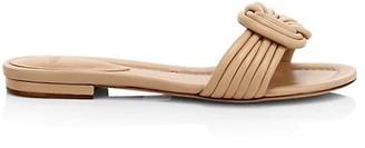 Alexandre Birman Vicky Knotted Flat Leather Sandals