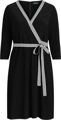 Ralph Lauren Matte Jersey Wrap-Style Dress