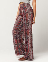Full Tilt Floral Paisey Womens Wide Leg Pants