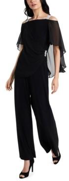 MSK Side-Draped Cold-Shoulder Jumpsuit