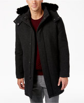 Alfani Collection Men's Luxe Dressy Parka with Faux-Fur Hood, Only at Macy's