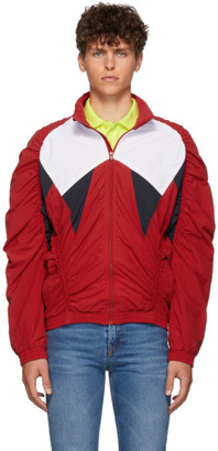 Martine Rose Red Ruched Track Jacket
