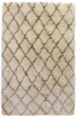 Kosas Home Elegante Hand-woven Diamond Shag Area Rug