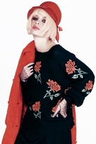 Wildfox Couture A Rose Is A Rose Pfeiffer Sweater in Clean Black