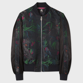 Paul Smith Men's Black 'Cockatoo' Jacquard Bomber Jacket