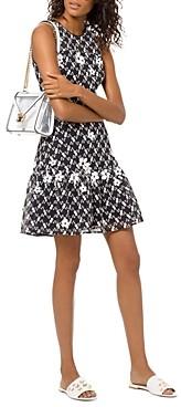 MICHAEL Michael Kors Floral-Applique Mesh Dress