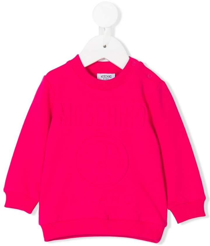 Moschino Kids embossed logo sweatshirt