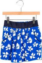 Little Marc Jacobs Girls' Floral Print Mini Skirt